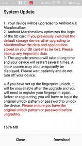 Lenovo lanza la actualización de Android Marshmallow para Lenovo Vibe P1