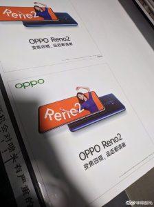 Los detalles sobre la configuración de cuatro cámaras del Oppo Reno2 se filtran en línea