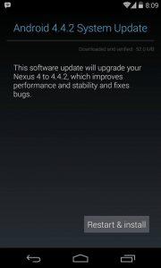 Los dispositivos Nexus ahora reciben la actualización de Android 4.4.2