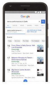 Los eventos locales en la India ahora son más fáciles de encontrar a través de la Búsqueda de Google