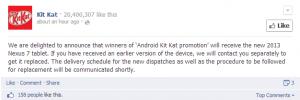 Los ganadores indios de la promoción Android KitKat obtendrán el modelo Nexus 7 2013