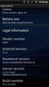 Los modelos Xperia de Sony Ericsson reciben actualizaciones de Android 2.3.4