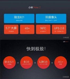 Los precios de Xiaomi Mi Note 2 aparecen antes del lanzamiento