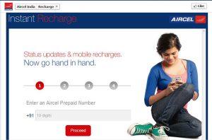 Los suscriptores de Aircel ahora pueden recargar sus números a través de Facebook
