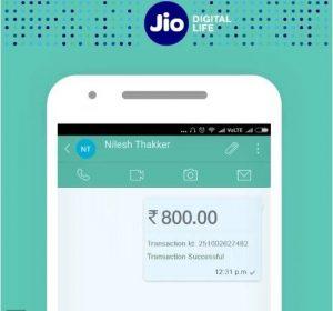 Los suscriptores de Reliance Jio ahora pueden transferir dinero desde JioMoney en el chat