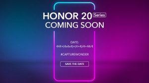 Los teléfonos inteligentes de la serie Honor 20 serán oficiales el 21 de mayo