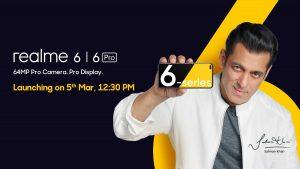 Los teléfonos inteligentes de la serie Realme 6 se lanzarán en India el 5 de marzo