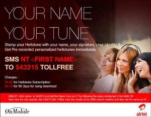 Los usuarios de Airtel ahora pueden obtener Hello Tunes personalizados con su nombre en él