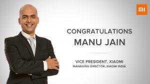 Manu Kumar Jain sucede a Hugo Barra como vicepresidente de Xiaomi
