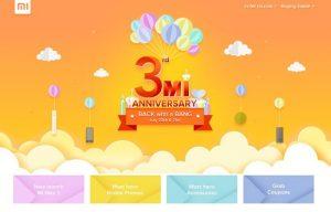 Mi 3er aniversario de la venta traerá la venta Flash Re.1, descuento en accesorios del 20 al 21 de julio