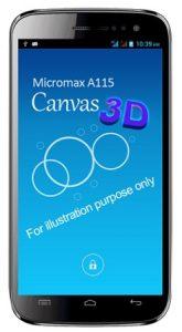 Micromax A115 Canvas 3D detectado en línea