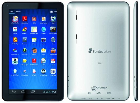 Micromax Funbook Pro ahora disponible para Rs.  9,999
