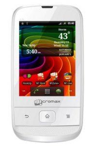 Micromax Smarty 3.0 A30 con pantalla de 3 pulgadas, Android 2.3 GB disponible en línea por Rs.3849