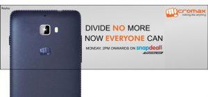 Micromax anuncia hoy un nuevo teléfono inteligente asequible;  Podría ser una exclusiva de Snapdeal