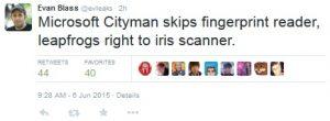 Microsoft Lumia 940XL puede incluir un escáner de iris