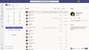 Microsoft Teams obtiene una nueva interfaz de llamadas y más funciones