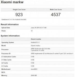 Misterioso teléfono inteligente Xiaomi con procesador Snapdragon 625 visto en los puntos de referencia