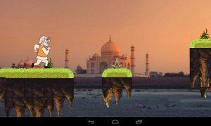 Modi Run: un juego en miniatura de Modi para la publicación de PM