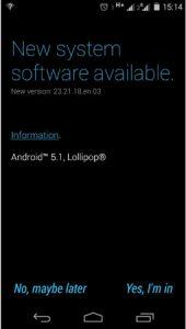 Moto E (1.a generación) recibe la actualización de Android 5.1 en India