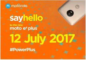 Moto E4 Plus con batería de 5000 mAh y escáner de huellas dactilares se lanzará en India el 12 de julio