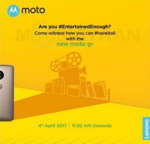 Moto G5 llegará a las costas indias el 4 de abril