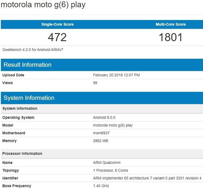 moto-g6-play-especificaciones-geekbench