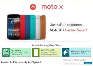 Moto X aparece en Flipkart con ofertas de EMI y descuentos en estuches
