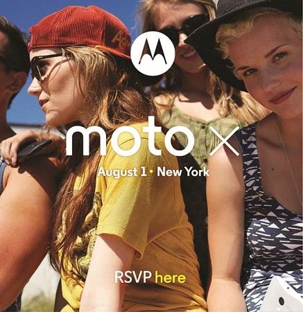 Invitación de lanzamiento de Moto-X