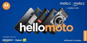 Moto Z, Moto Z Play y Moto Mods salen a la venta en India esta noche