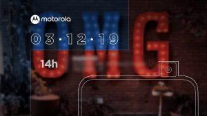 Motorola One Hyper con cámara selfie emergente se lanzará el 3 de diciembre