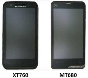 Motorola XT760 y MT680 detectados