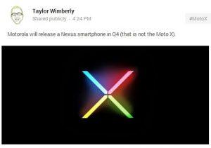 Motorola puede producir el Nexus 5
