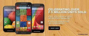 Motorola vende 2,5 millones de unidades Moto en India