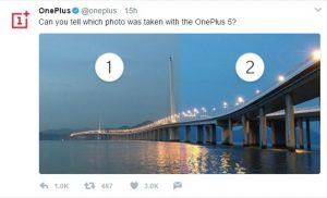 Muestra de cámara OnePlus 5 revelada oficialmente por OnePlus