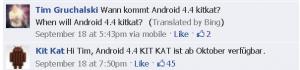 Nestlé indica que Android 4.4 - KitKat OS está listo para su lanzamiento en octubre