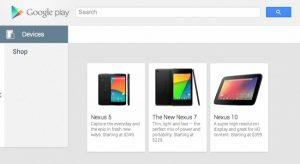 Nexus 5 detectado en Google Play;  Con un precio de $ 349