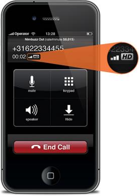 Nimbuzz 2.0.4 lanzado, ahora realiza llamadas HD desde iPhones