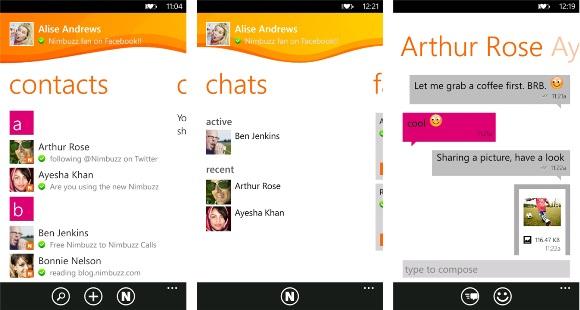 Nimbuzz ahora disponible en Windows Phone