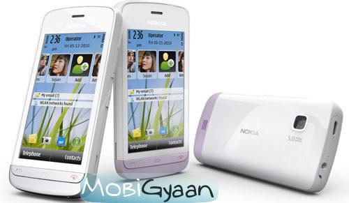 Nokia C5-03 listo para reemplazar Nokia 5800XM