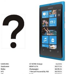 Nokia Champagne, el nuevo teléfono WP 'Tango' se filtra en los registros