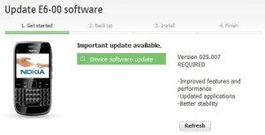 Nokia E6-00 y otros dispositivos Symbian Anna obtienen actualización de firmware