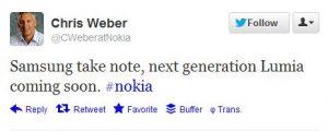 """Nokia Exec: """"Samsung toma nota, próxima generación de Lumia"""""""