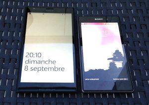 Nokia Lumia 1520 visto junto al Sony Xperia Z