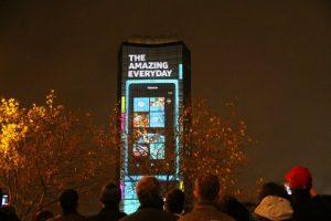 Nokia Lumia 4D Projection: actuación en directo de Deadmau5 en Londres