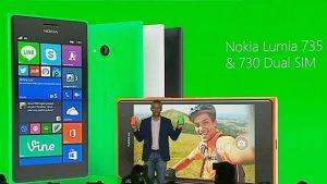 Nokia Lumia 730 y Lumia 735 con cámara selfie gran angular de 5 MP anunciados
