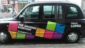 Nokia Lumia patrocina viajes gratuitos en taxi negro en Londres