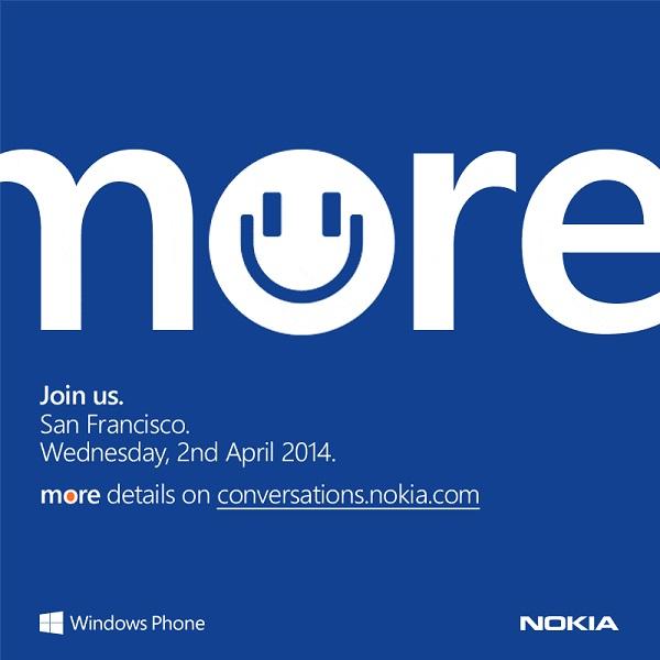 Evento del 2 de abril de Nokia
