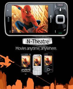 Nokia lanza N-theater, Movies On Mobile