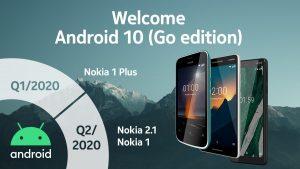 Nokia lanza la línea de tiempo de actualización de Android 10 Go Edition para teléfonos de nivel de entrada
