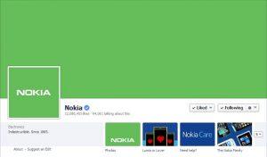 Nokia se vuelve verde con sus páginas de Facebook y Twitter, ¿viene Nokia X con Android?